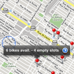 3) Tada! all active stations show on the map, with the number of available bikes and parking slots