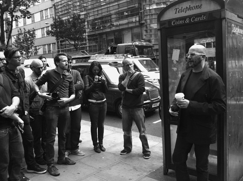 Adam Greenfield and some of the attendees of the first London Systems/Layers urban walkshop